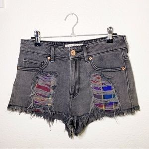 ❤️Bullhead Distressed High Rise Cut Off Shorts 3
